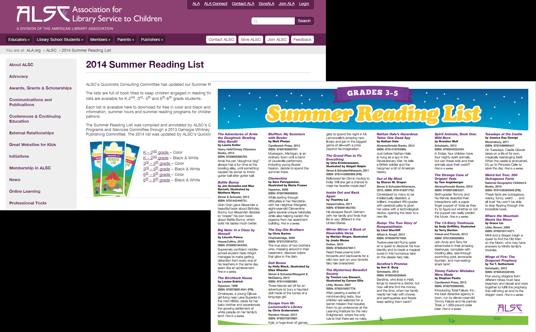 ALSC Summer Reading List